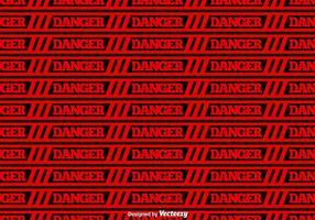 Vector Red Danger Tape Sömlös Bakgrund