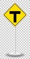 gul diamant trafik varningsskylt