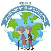 Internationaler Tag der älteren Menschen Design
