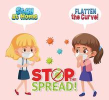 Mädchen hören auf, Virendesign zu verbreiten vektor