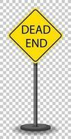 gul återvändsgränd trafik varningsskylt