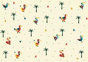 Dodo-Vogel-Muster-Vektor
