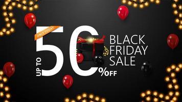 Black Friday Sale, bis zu 50 Rabatt auf Banner