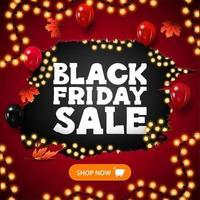 svart fredag försäljning ljus rabatt banner vektor
