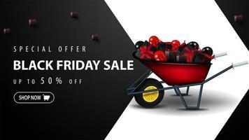 specialerbjudande, svart fredag försäljning mall vektor