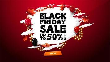 svart fredag försäljning banner med grunge form vektor