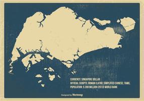 Alte Weinlese Singapur Karte vektor