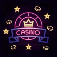 casino neonljus tecken
