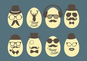 Hipster Ostern Vektor-Icons