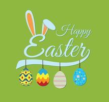 Easter Bunny Ears Bakgrund Vector