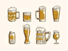 Cerveja ikoner vektor