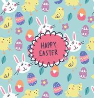Hand Drawn Happy Easter Hintergrund Vektor
