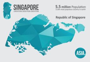 Singapur Karte Infografik