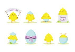 Cute Ostern Küken Vektor