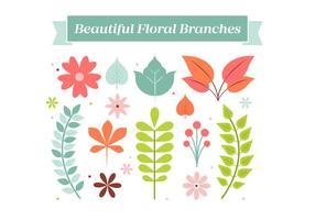 Freie Weinlese-Blumen-Kranz-Elemente Hintergrund vektor