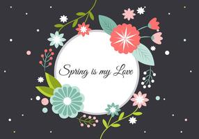 Gratis Floral Greeting vektorelement