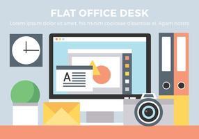 Kostenlose Büro-Schreibtisch-Vektor-Elemente