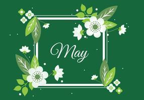 Freier Frühlings-Blumen-Kranz-Hintergrund vektor