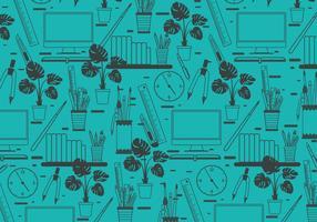 Kul Office-verktyg mönster vektor