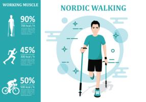 Nordic Walking Infografik vektor