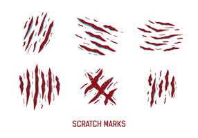 Red-Kratzer-Markierungen Vektor