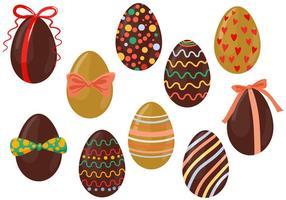 Freie Schokoladen-Eier Vektoren