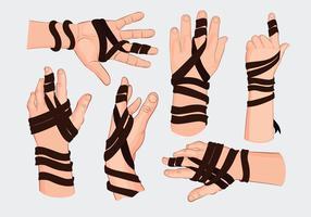 Observant judiska Tefillin Hand Vektorer