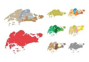 Singapore Karta vektorer