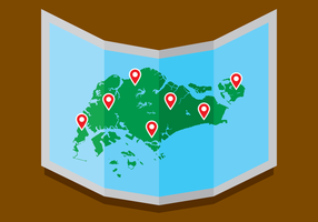 Singapur Karte Vector Graphics