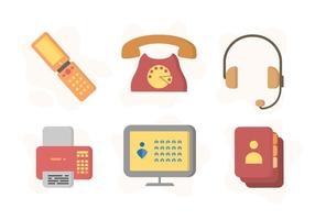Freie Iconic Kommunikation Vektoren