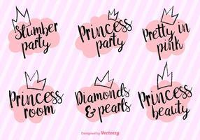 Vector Prinzessin Party-Sätze