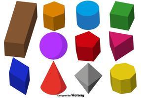 Vector samling av 3D Prismor