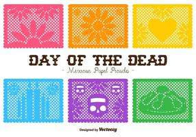 Vector Day of the Dead Klipp ut papperskompositioner
