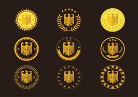 Eagle Seal guld- logo Gratis Vector