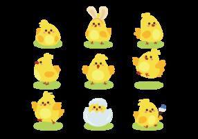 Ostern Küken niedlich Icons