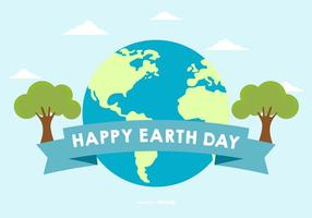 Glücklicher Tag der Erde Illustration vektor