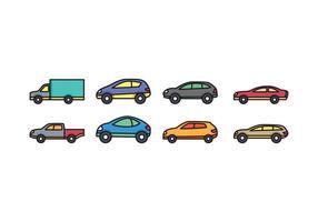 Car Icon Set vektor