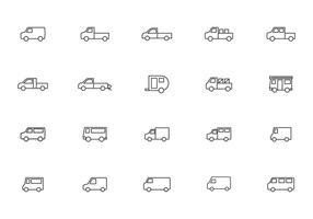 Frei bewegliche Van und LKW-Vektoren