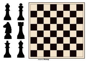 Schachbrett und Abbildung Sammlung