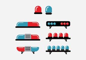 Rote und blaue Polizei Lichter Vektoren