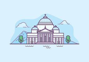 Basilica san francesco di paola illustration