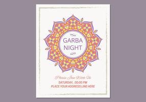 Garba Poster-Vorlage vektor