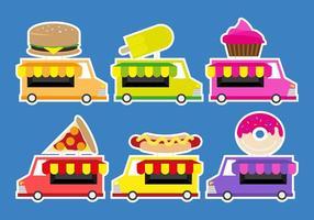 Camion Truck Lebensmittel Illustration Vektor