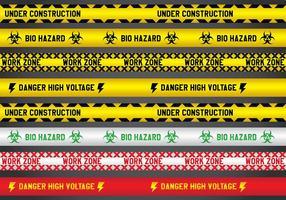 Verschiedene Gefahr Linie Vektoren