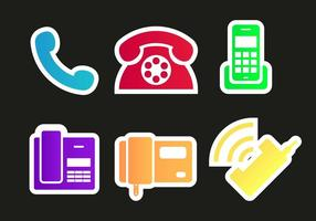 Tel Phones Icons Vector