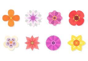 Flache Blume Vektoren