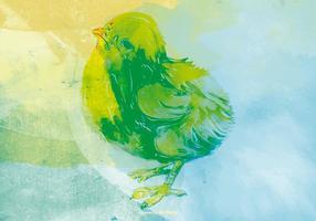 Akvarell Chick Bakgrund vektor