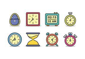 Timer-Icon-Pack vektor