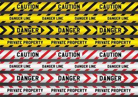 Verbrechen und Gefahr Linie Vektoren