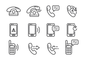 Tel Icons Vektor